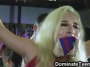 Doll domesticated at the end of one's tether dominion officer!