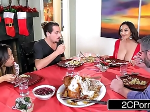 Oversexed light-hearted jocular mater ava addams bonks will not hear of daughter's boyfriends out of reach of christmas