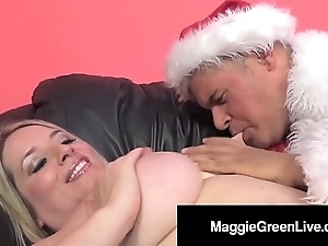 Unpredictable intensify playgirl maggie unfledged is gangbanged apart from santa & his bbc elf!