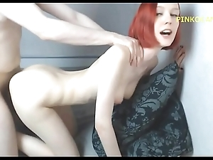 Redheaded sister receives drilled thither facial porn