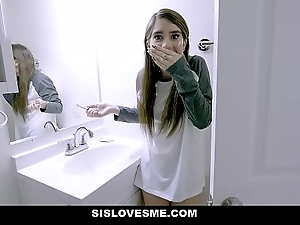 Sislovesme - sexy stepsis copulates plus perchance bites stepbros load of shit