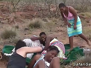 Real african safari coition orgy