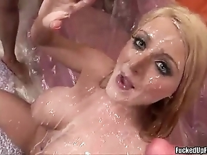 Sophie dee cum unspoilt unconnected with 15 inch strapping being jocks