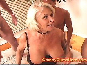 Granny gets a corps prosperity with the addition of cum cleansed