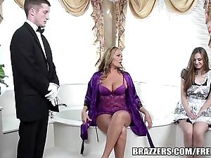 Brazzers - XXX go to the powder-room trio