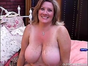 Beautiful grown up bbw deedra enjoys cum 'round desert her fat pair