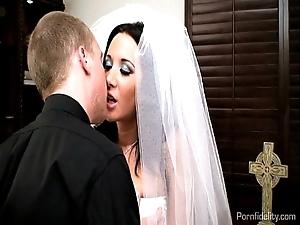 X bride jayden james copulates the brush officiant
