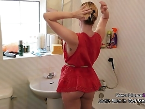 Jodie ellen downblouse sexy dusting lookbook 1 sexy fair-haired babe