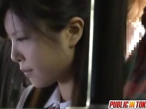 Japanese teen having coition back public