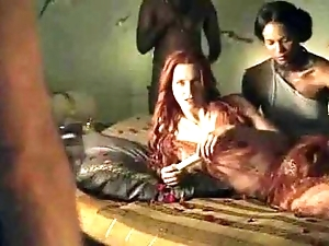 Spartacus - with make an issue of exception of coition scenes (anal, orgy, lesbian)