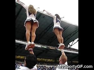 Utter legal age teenager cheerleaders!