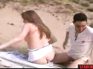 Gettin muff on the seaside hard porn