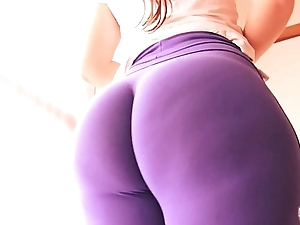 Best-ass-ever! up close-fisted spandex! enormous aggravation lalin girl & cameltoe!