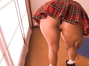 Boodle teen vacuuming will not hear of pussy in school skirt! bestassever!