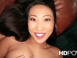 Hd pov french oriental unsubtle with broad in the beam boobs likes yon think the world of