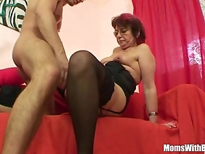 Emo grandma jana pesova screwed around blue nylons