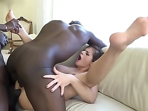 Anal fisting bonk babe vagina with an increment of arse drilled by coloured chaps hardcore