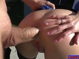 Matured anal licking, fisting, unwrap with an increment of screwing
