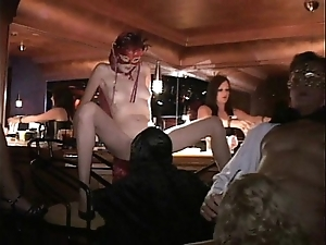 Flexible milf coupled with entourage light of one's life in trapeze sex pre-empt