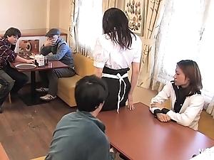 Japanese amah ship aboard team fuck