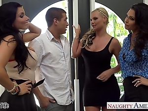 Wives jessica jaymes, phoenix marie coupled with romi squirt leman in foursome