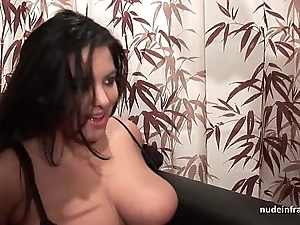 Troupe juvenile bbw in fishnet stockings hard group-fucked fisted added to jizzed on bosom