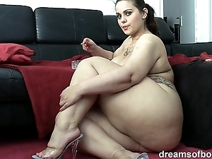 German bbw pawg samantha is jesting while she's smokin' a wash out