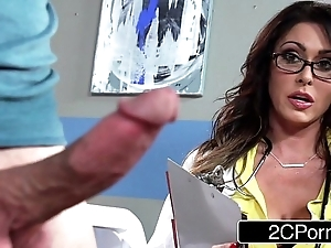 Burly honcho doctor jessica jaymes milking the brush anyhow