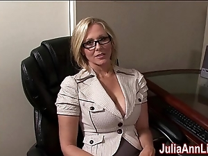Milf julia ann dreams alongside engulfing cock!
