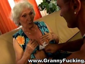 Mature granny obtaining screwed hard by a large blarney