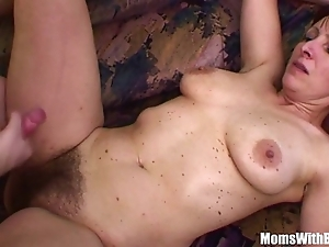 Unfortunate stepson bonks his muted pussied stepmom