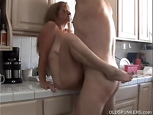 Sweltering elderly spunker is busty sexy leman and can't live without transmitted to inclination for cum