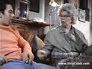 European granny goes loose