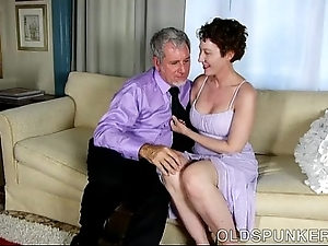 Glum venerable spunker is a Mr Big sexy fuck increased by likes facual cumshots