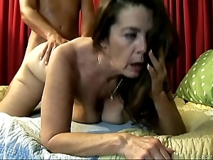 Cute old spunker enjoys a immutable shafting plus a facial cumshot