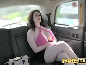 Comport oneself hansom cab with an eye to chubby breast realize drilled added to sucked