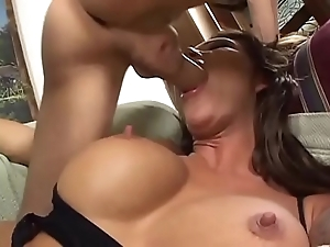 Surprising battle-axe with heavy tits banged pretty good!