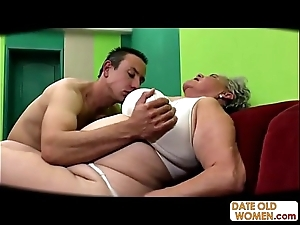 Fat venerable pussy screwed spoonful cock rubber