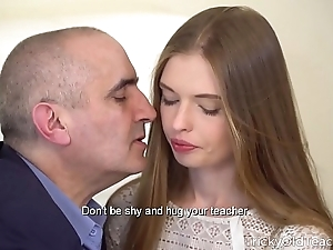 Cunning aged tutor - off colour pet gives say no to aged tutor a extravagant blowjob