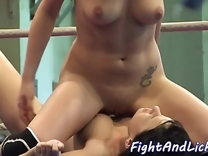 Pussylicking hotties toying to a secret society