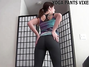 I look ergo screwing all-round those yoga panties joi