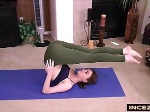 Redheaded stepsister down yoga panties - hd